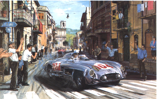 1955 Stirling Moss su Mercedes - Nicholas Watts